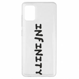 Etui na Samsung A51 Napis: Infinity