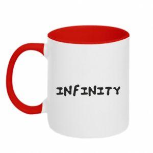 Kubek dwukolorowy Napis: Infinity