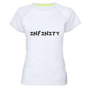 Koszulka sportowa damska Napis: Infinity