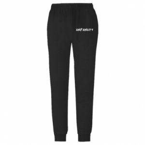 Spodnie lekkie męskie Napis: Infinity