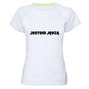 Women's sports t-shirt Inscription - I'm a bitch - PrintSalon