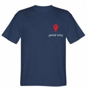 Koszulka męska Napis - Jesteś tutaj