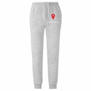 Męskie spodnie lekkie Napis - Jesteś tutaj