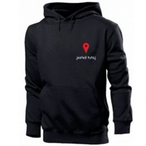 Men's hoodie Inscription - You are here