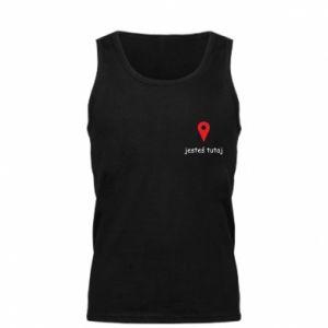 Męska koszulka Napis - Jesteś tutaj