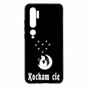 Etui na Xiaomi Mi Note 10 Napis: Kocham cię z kotami
