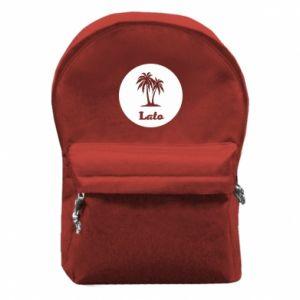 Plecak z przednią kieszenią Napis - Lato