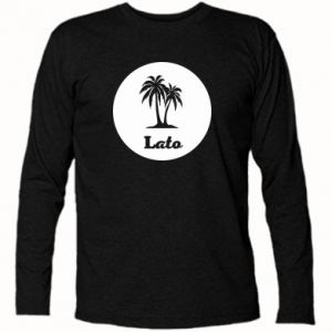 Koszulka z długim rękawem Napis - Lato