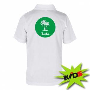 Dziecięca koszulka polo Napis - Lato
