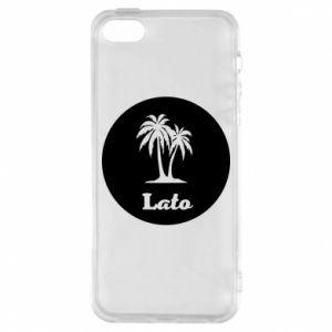 Etui na iPhone 5/5S/SE Napis - Lato