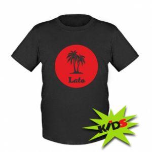 Dziecięcy T-shirt Napis - Lato