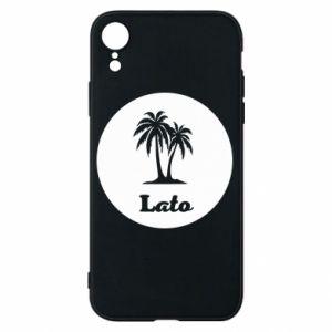 Etui na iPhone XR Napis - Lato