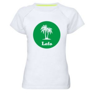 Damska koszulka sportowa Napis - Lato