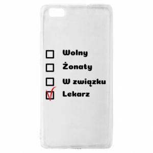 Etui na Huawei P 8 Lite Napis - Lekarz