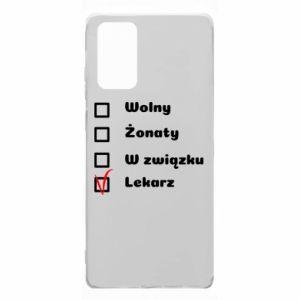 Etui na Samsung Note 20 Napis - Lekarz
