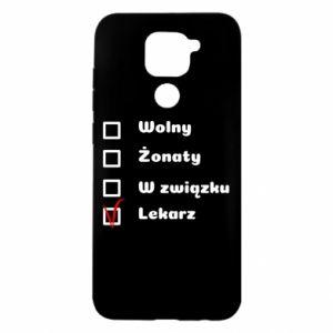Etui na Xiaomi Redmi Note 9/Redmi 10X Napis - Lekarz
