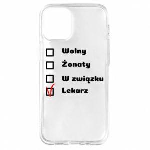 Etui na iPhone 12 Mini Napis - Lekarz