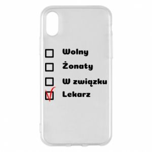 Phone case for iPhone X/Xs Inscription - Doctor