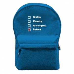 Backpack with front pocket Inscription - Doctor