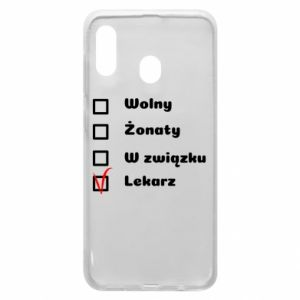 Phone case for Samsung A20 Inscription - Doctor