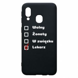 Phone case for Samsung A40 Inscription - Doctor