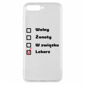 Phone case for Huawei Y6 2018 Inscription - Doctor - PrintSalon