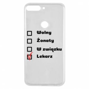 Phone case for Huawei Y7 Prime 2018 Inscription - Doctor