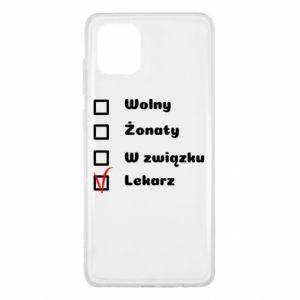 Etui na Samsung Note 10 Lite Napis - Lekarz