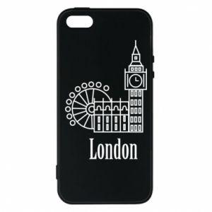 Etui na iPhone 5/5S/SE Napis: London - PrintSalon