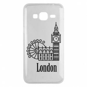 Etui na Samsung J3 2016 Napis: London - PrintSalon