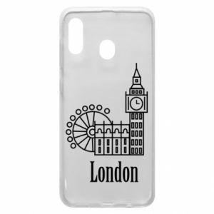 Etui na Samsung A30 Napis: London - PrintSalon