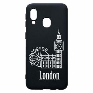 Etui na Samsung A40 Napis: London - PrintSalon