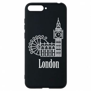 Phone case for Huawei Y6 2018 Inscription: London