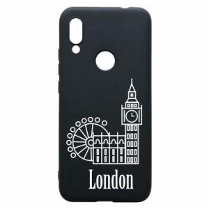 Etui na Xiaomi Redmi 7 Napis: London - PrintSalon