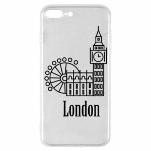 Etui na iPhone 7 Plus Napis: London - PrintSalon