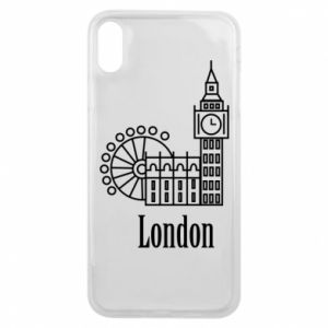 Phone case for iPhone Xs Max Inscription: London