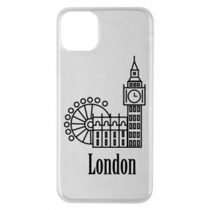 Phone case for iPhone 11 Pro Max Inscription: London
