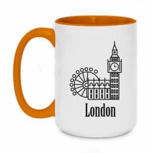 Two-toned mug 450ml Inscription: London