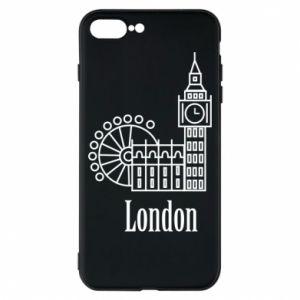 Etui na iPhone 8 Plus Napis: London - PrintSalon