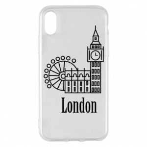 Phone case for iPhone X/Xs Inscription: London