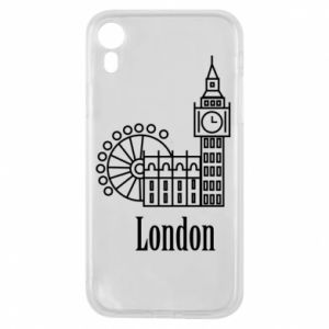 Phone case for iPhone XR Inscription: London
