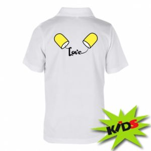 Dziecięca koszulka polo Napis - Love