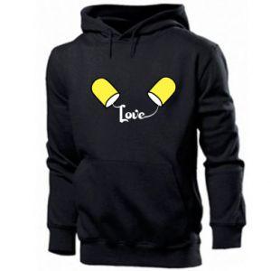 Męska bluza z kapturem Napis - Love