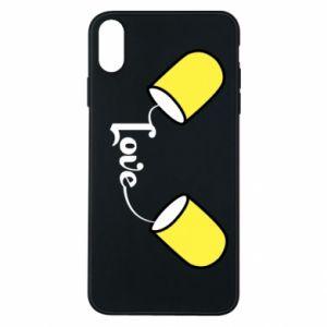 Etui na iPhone Xs Max Napis - Love