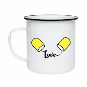 Kubek emaliowane Napis - Love