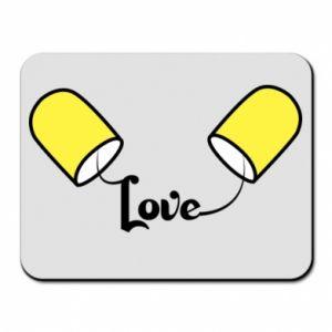 Podkładka pod mysz Napis - Love
