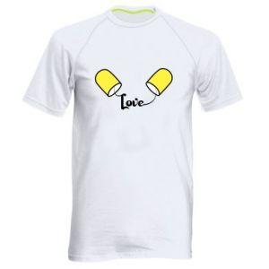 Koszulka sportowa męska Napis - Love