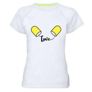 Damska koszulka sportowa Napis - Love