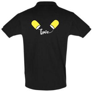Koszulka Polo Napis - Love