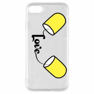 Etui na iPhone 7 Napis - Love